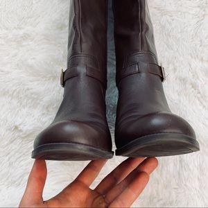 Anne Klein Shoes - Anne Klein iflex Tall Brown Leather Riding Boots
